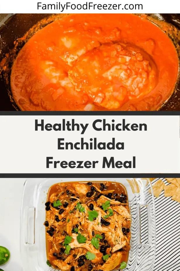 Cheesy chicken enchiladas | slow cooker chicken enchiladas verde | healthy slow cooker chicken enchiladas | slow cooker chicken enchilada stack | crockpot enchilada lasagna | slow cooker enchilada sauce | enchilada recipe