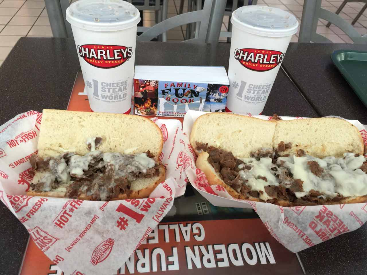 Charley's Crilled Subs food recived with coupon in The Family Fun Book - Sandford Florida