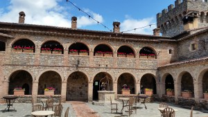 The courtyard of the castle