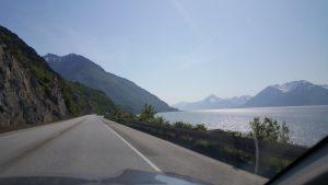 The views driving in Alaska