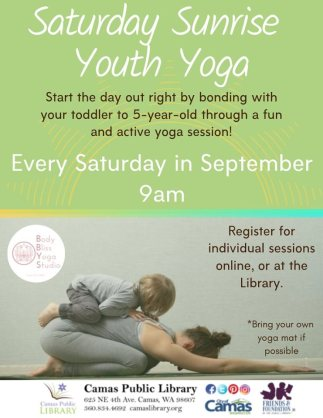 youth yoga camas public library