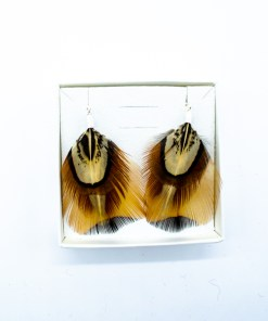 My Fancy Feathers Earrings, Pheasant Feather.