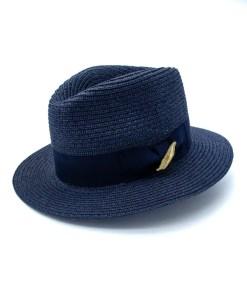 My Fancy Feathers Summer Fedora Hat in Blue