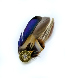 My Fancy Feathers Brooch, Pin Badge with Feathers