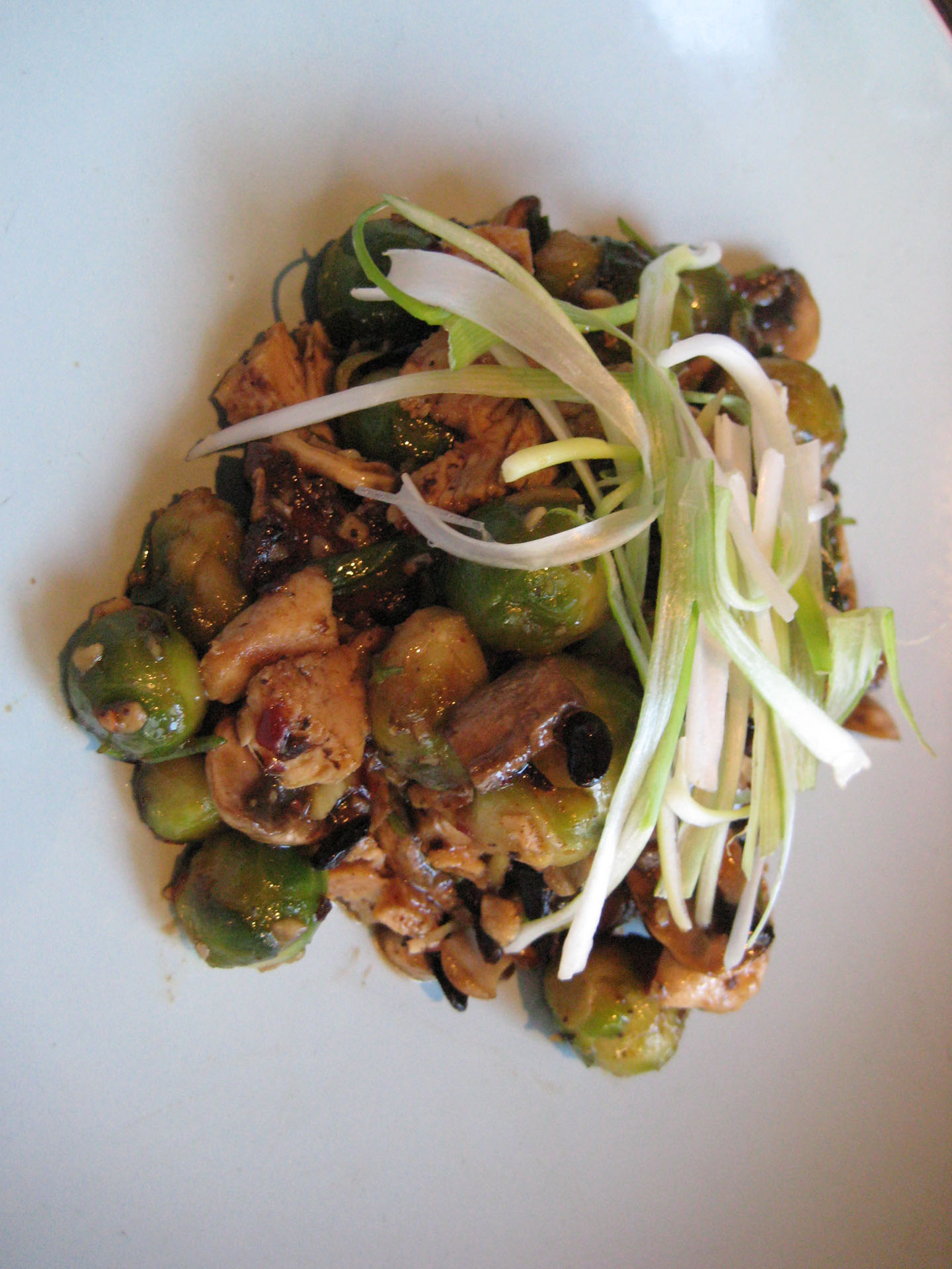 Chicken and Brussels with Black Bean Sauce - Fangalicious