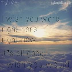 Taylor Swift 1989 Lyrics - I Wish You Would 2