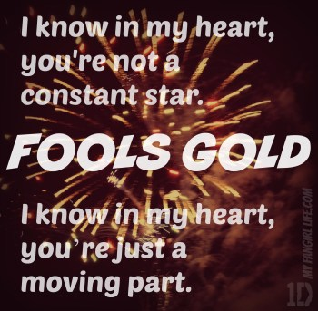 One Direction Four Lyrics - Fools Gold 1