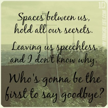 One Direction Four Lyrics - Spaces 2