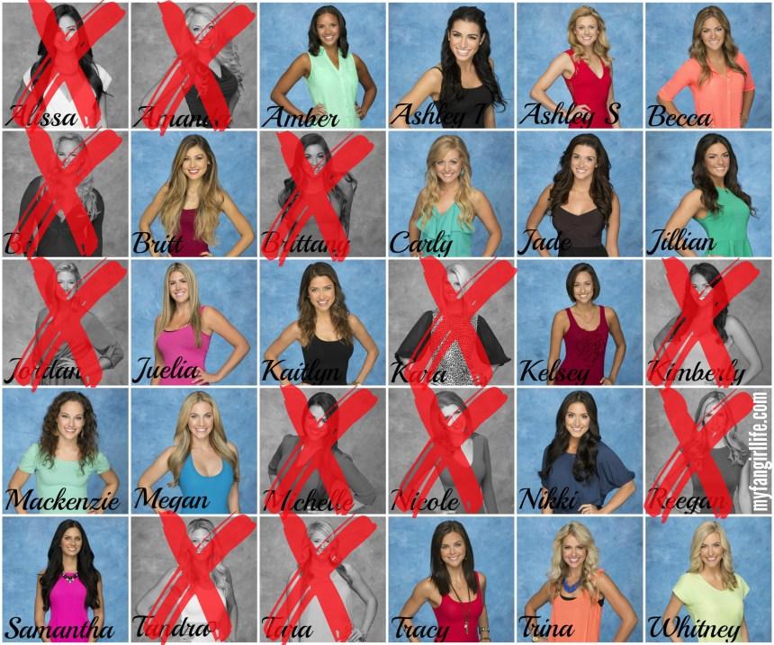 Bachelor Season 19 Chris - Week 2 Eliminations