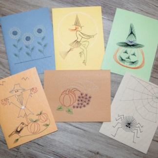 Fall Halloween Thanksgiving Cards
