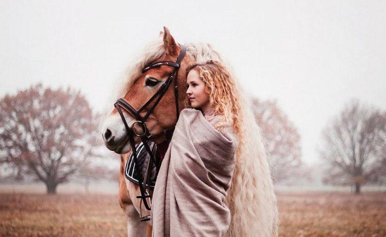 У лошадей породы Хафлингер можно встретить такую роскошную гриву