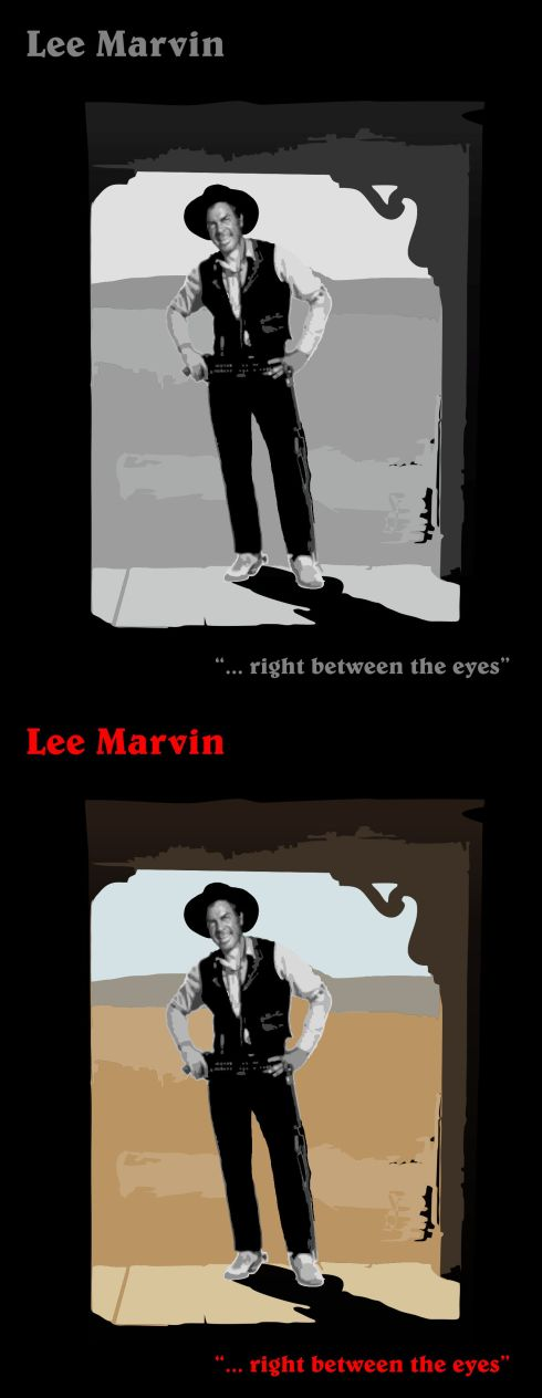 Lee Marvin - right between the eyes