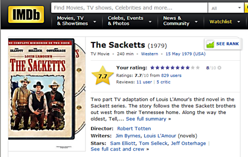 The Sacketts IMDB review