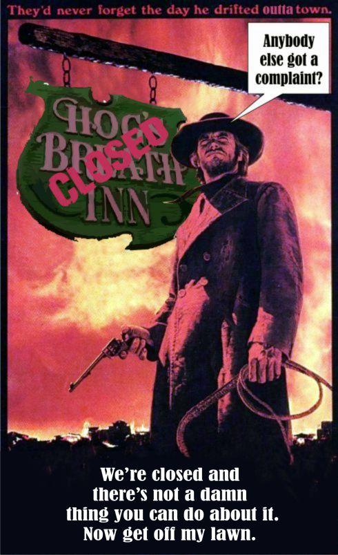 The Hogs Breath Inn closed 2
