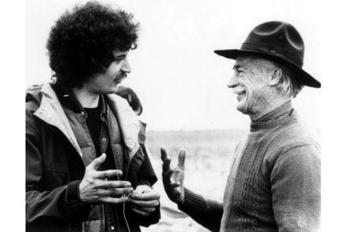 Director Phillip Borsos and Richard Farnsworth / 1982 Canadian movie The Grey Fox.