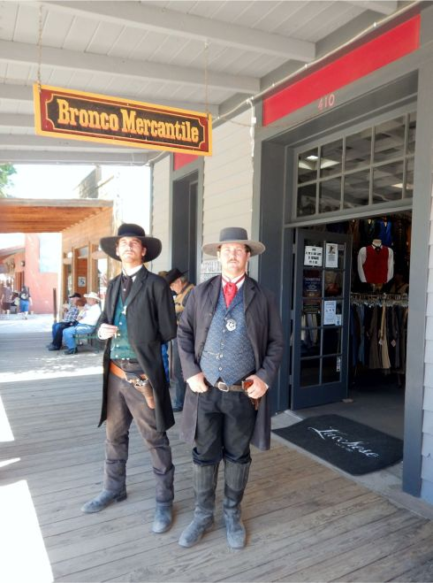 Downtown Tombstone cowboys