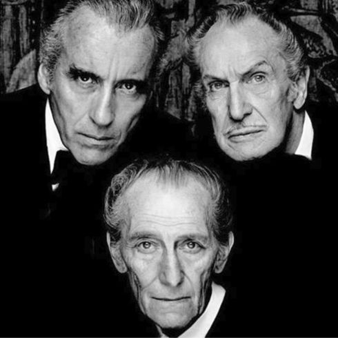 Christopher Lee, Vincent Price, Peter Cushing