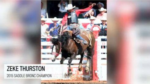 Saddle Bronc Zeke Thurston 2
