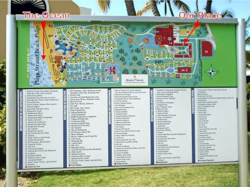 Bavaro Princess Resort Map
