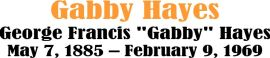 GABBY HAYES 2