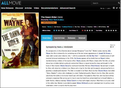 The Dawn Rider AllMovie review