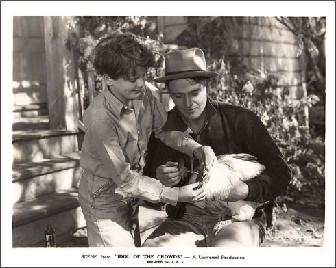 Idol of the Crowds John Wayne 1937 chicken and a kid