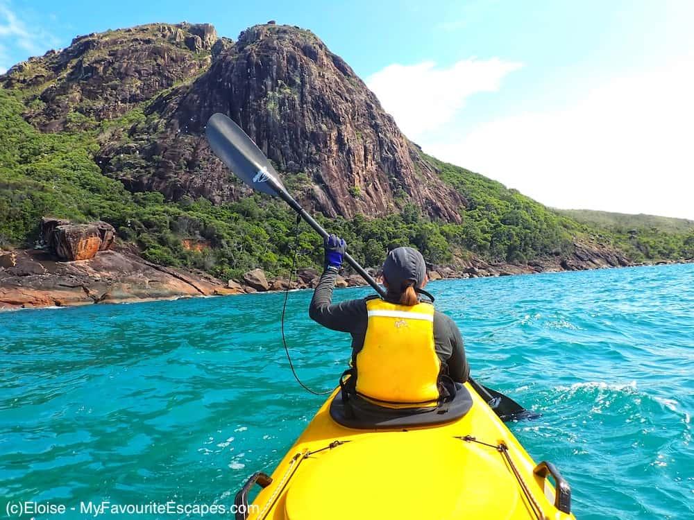 Kayaking Hinchinbrook Island near Mission Beach