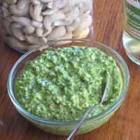 Baby Spinach Cashew and Parmesan Dip