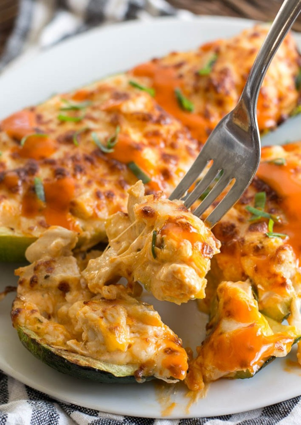 MyFinancialHill Air Fryer Keto Buffalo Chicken Zucchini Boats Healthy Low Carb Dinner