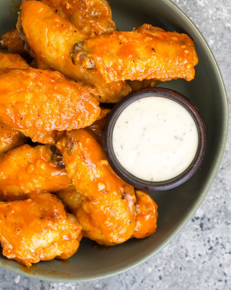 MyFinancialHill Air Fryer Buffalo Wings Low Carb Keto Recipe Healthy Low Carb Dinner