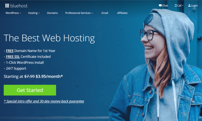 How To Start Your Own Free WordPress Blog With Bluehost-Bluehost Main Screen-My Financial Hill
