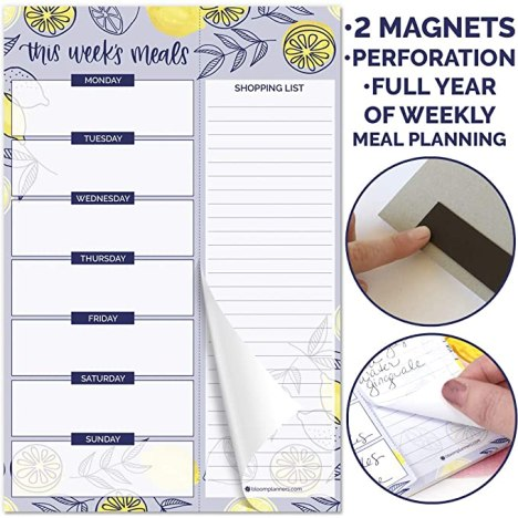 Meal-Planning-Shopping-List-Magnet-Refrigerator