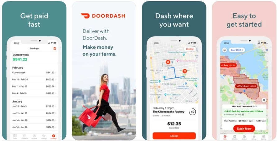 Doordash - How to make 10 dollars fast with PayPal- My Financial Hill