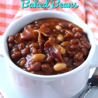 Crockpot BBQ Brown Sugar Baked Beans
