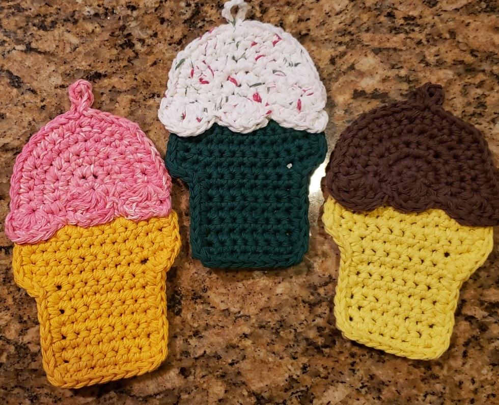 Ice cream cone potholders