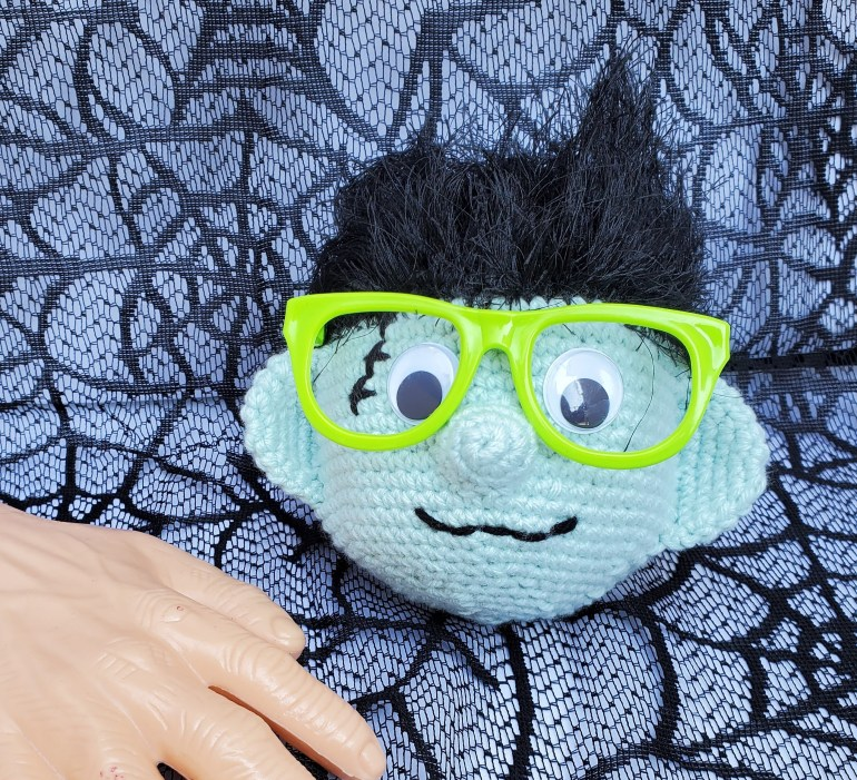 Frankenstein eyeglass holder