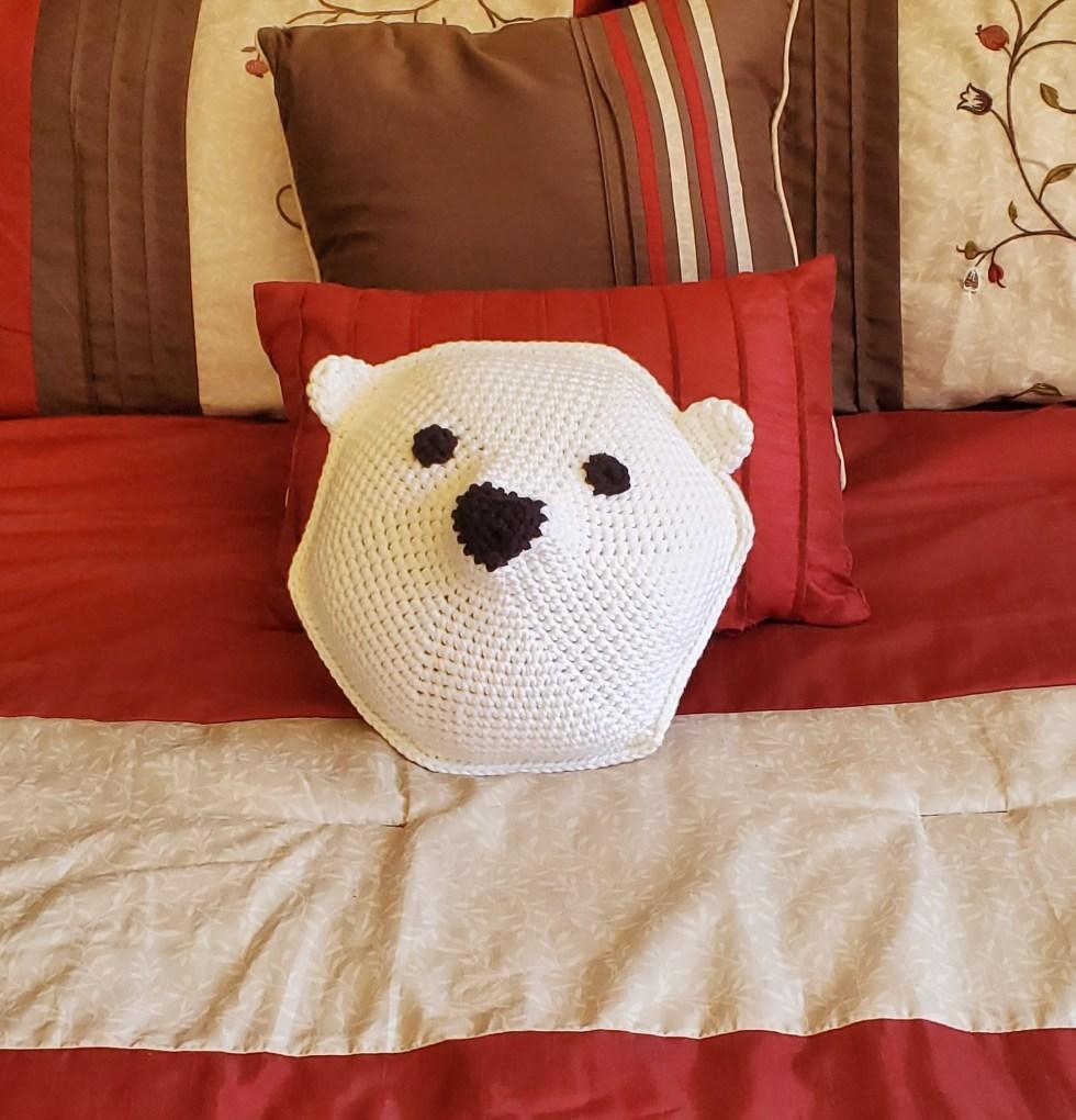 polar bear on bed
