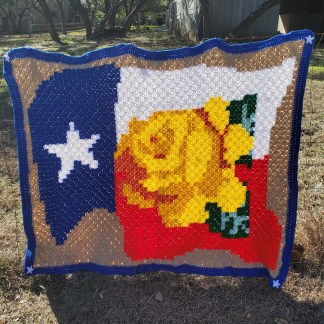 Yellow Rose of Texas Afghan Crochet Pattern