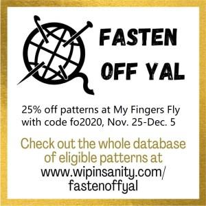 fasten off YAL