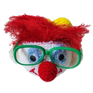 Clown Eyeglass Holder Crochet Pattern