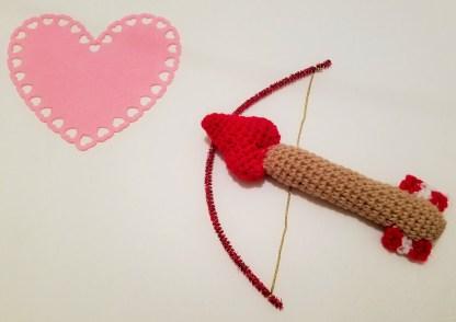 Cupid's Arrow Baby Rattle Crochet Pattern