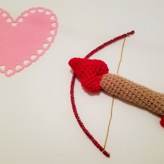 Cupid's Arrow Baby Rattle Crochet Pattern