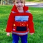 Fire Truck Toddler Hoodie Crochet Pattern, Sizes 2, 3 and 4