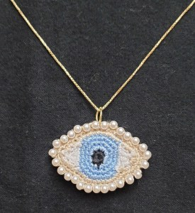 Lover's Eye Necklace Crochet Pattern