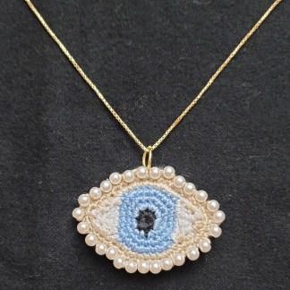 Lover's Eye Necklace Crochet Pattern