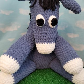 Archie the Donkey Crochet Pattern using Bernat Blanket Yarn