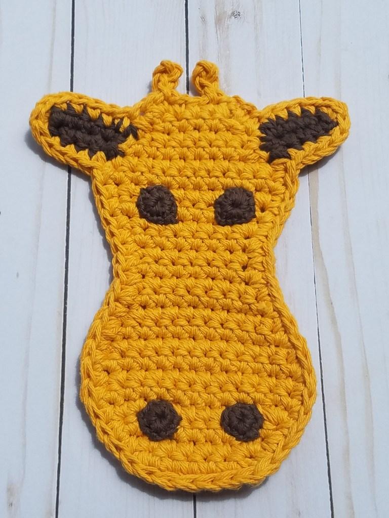 Giraffe Potholder Crochet Pattern