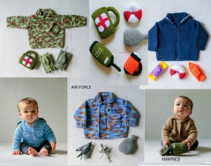 Military Baby Sweaters Crochet Patterns Ebook