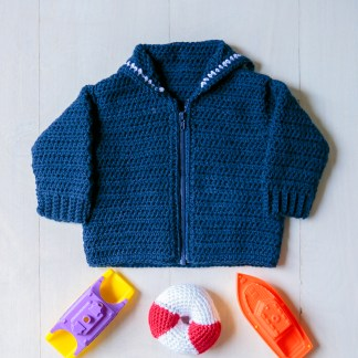 Sailor Baby Sweater Crochet Pattern