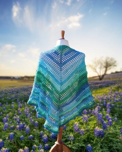 Texas Bluebonnet Shawl Crochet Pattern